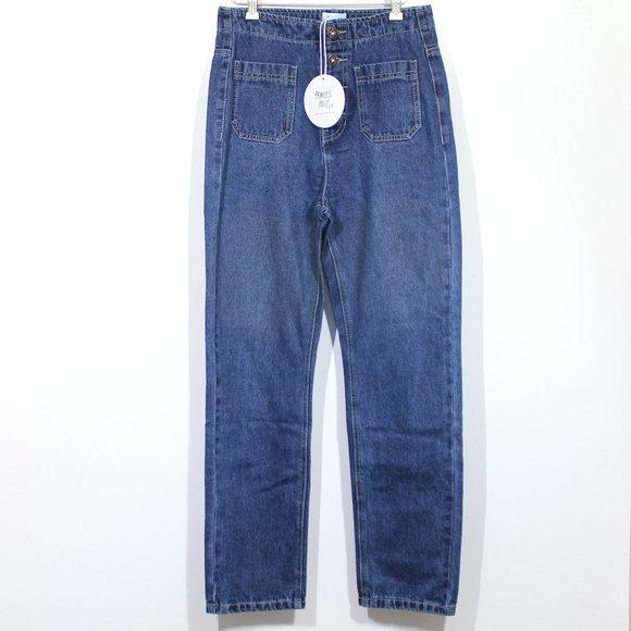 Princess Polly Denim - Princess Polly Vela High Waist Button Fly Jeans
